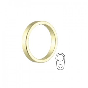 "Mistral Curtain Rod Flat ring w/clip~11/16"" ID~Each"