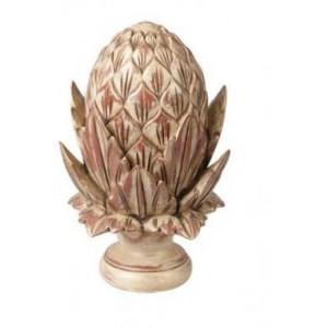 Hand Carved Artichoke Finial