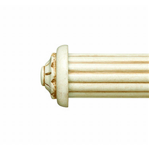 "Small Carved End Cap for 1 3/8"" Curtain Rod~Pair"