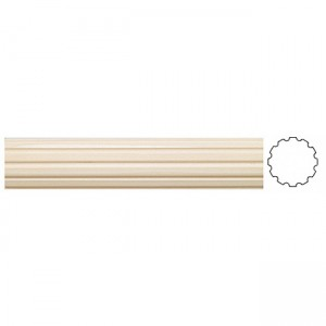 "1 3/8"" Grooved Wooden Drapery Curtain Rod"